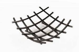 Grelha para lareira – suporte queimador quadrado – sem gaveta ferro quadrado 1/2