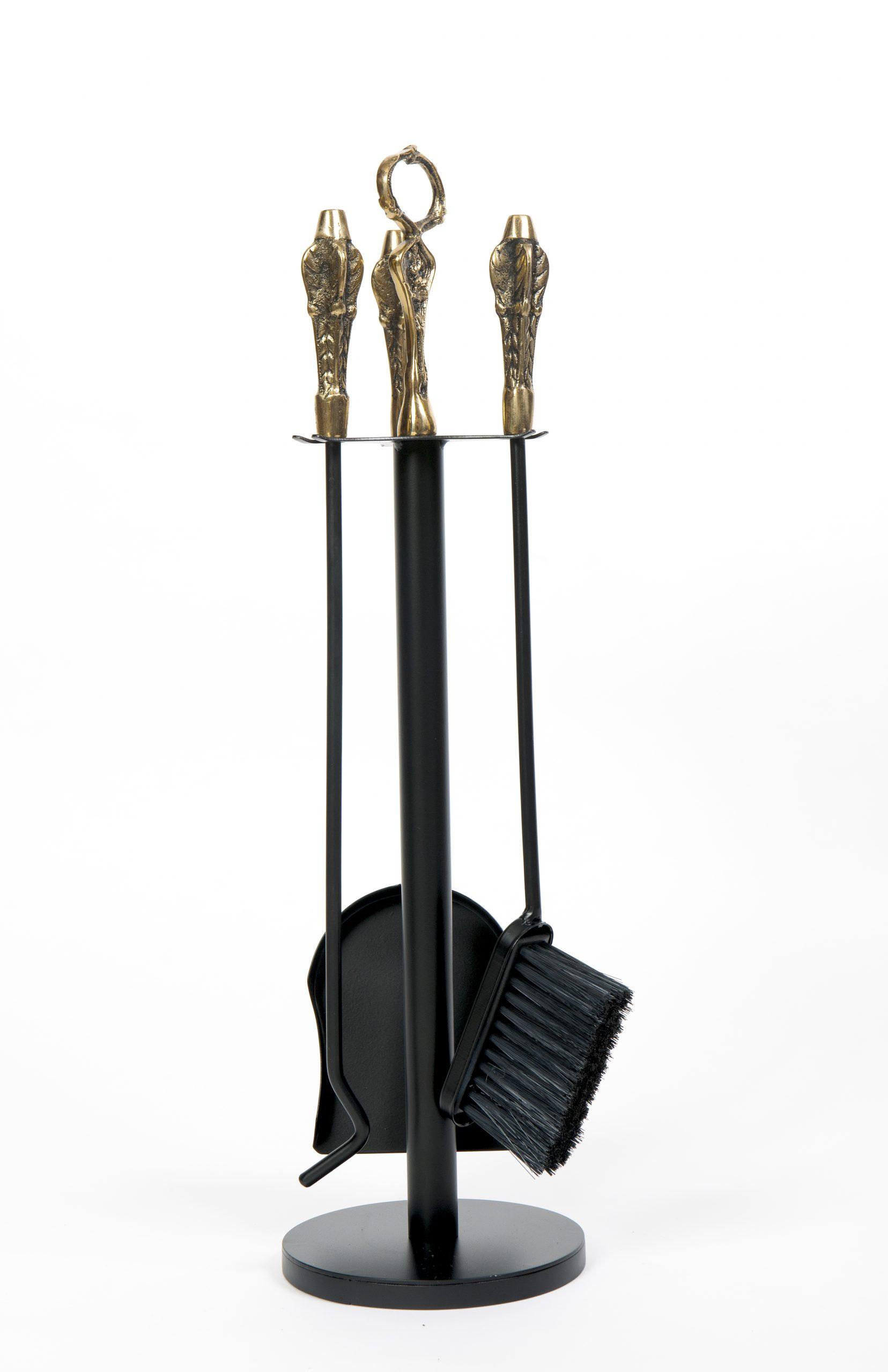Kit de limpeza para lareira P cabo de bronze (Cód. 264)