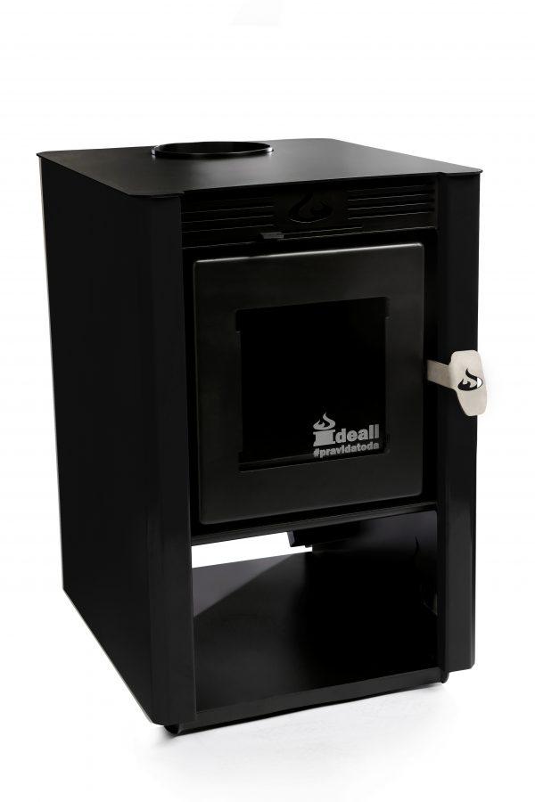 Calefator PP Vermelho/Preto/Creme/Inox – aquece 60²